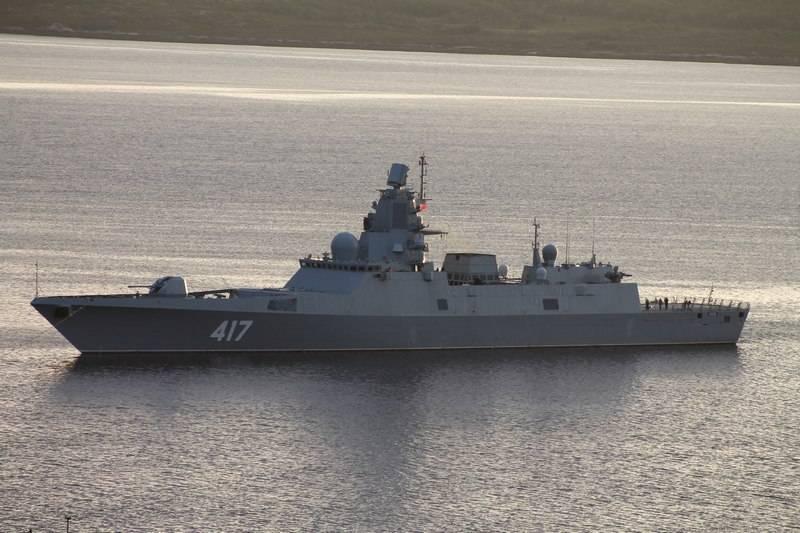 """Fragata """"Almirante Gorshkov"""" chegou ao Mar Branco para testar novas armas"""