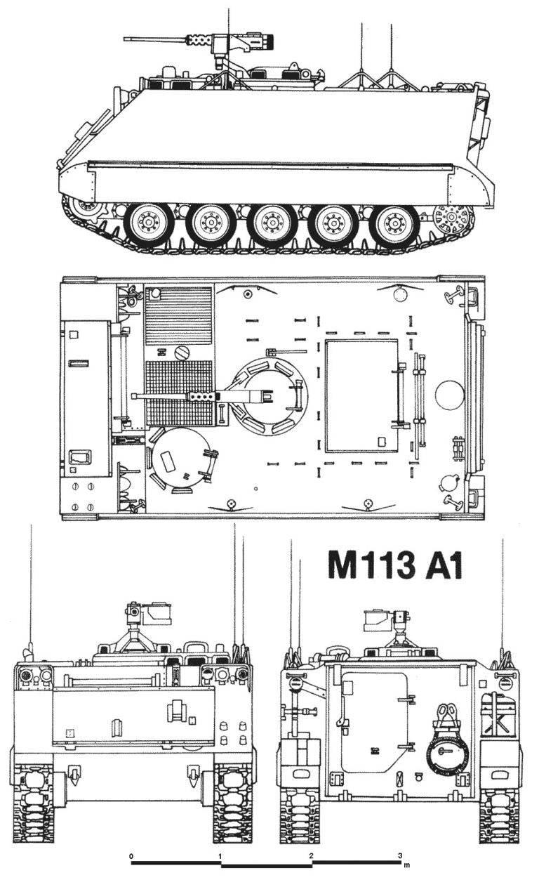 M113। इतिहास में सबसे बड़े बख्तरबंद कार्मिक वाहक