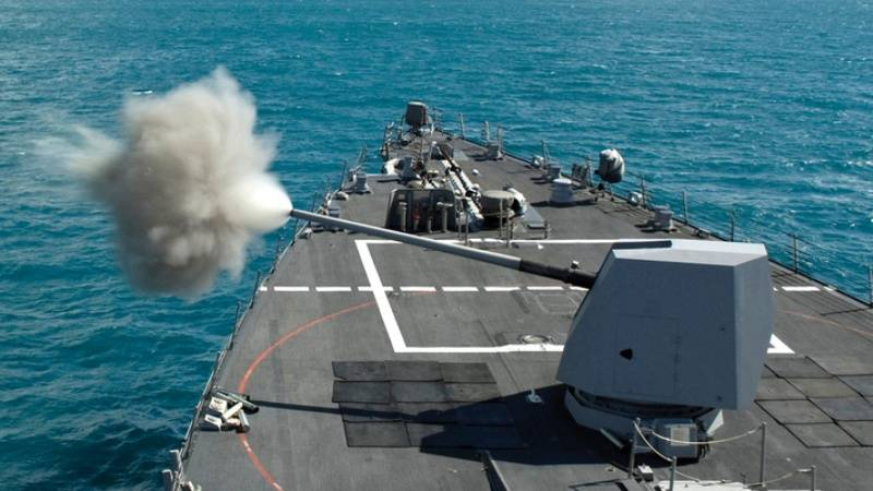 US naval artillery three times surpassed the guns of the Russian Navy in range