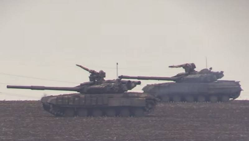 APU held tank exercises operational reserve in the Donbass