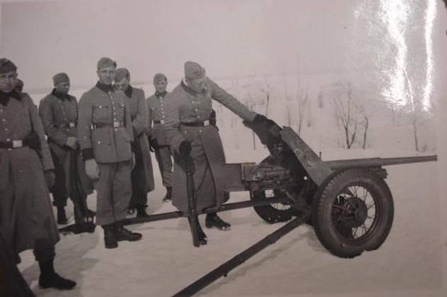 Trofeo pistole sovietiche anticarro delle forze armate tedesche nella seconda guerra mondiale