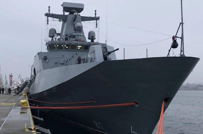 "Polish Navy were armed patrol ""Corvette-unfinished"" Ślązak"