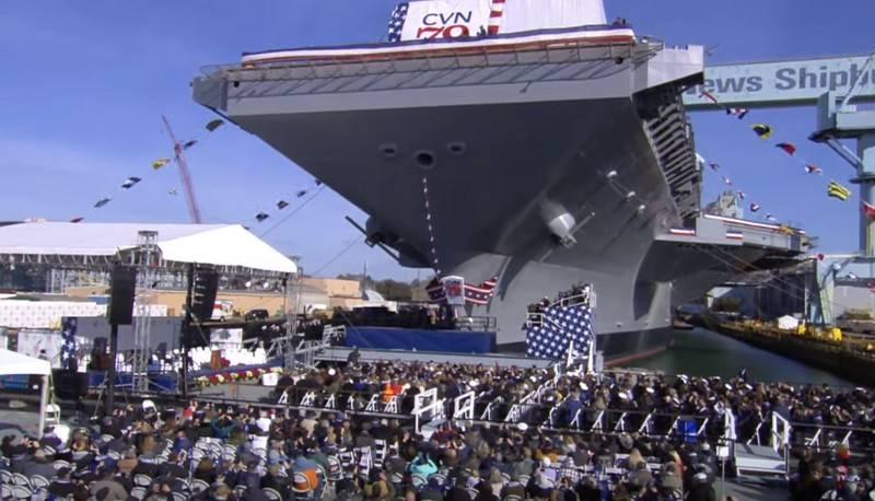 최신 항공 모함 USS John F. Kennedy (CVN 79)가 공식 출시