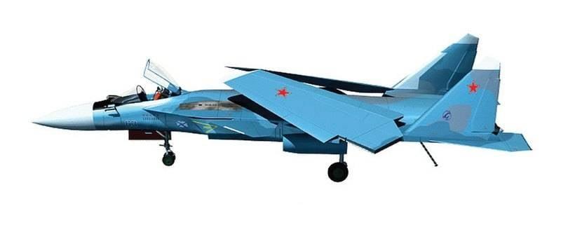 Проект Су-27КМ. Обратная стреловидность для авианосца