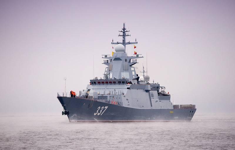 Новейший корвет «Гремящий» проекта 20385 закончил испытания в Белом море