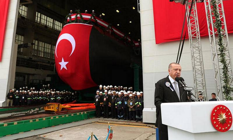 The first new generation diesel-electric submarine launched in Turkey
