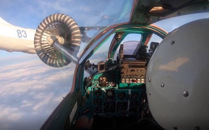 Tanken Su-34 und MiG-31 zeigten aus dem Cockpit