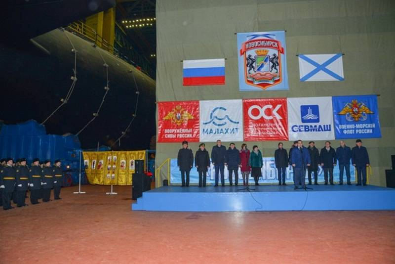 The first serial nuclear submarine of the Yasen-M project, Novosibirsk, was launched
