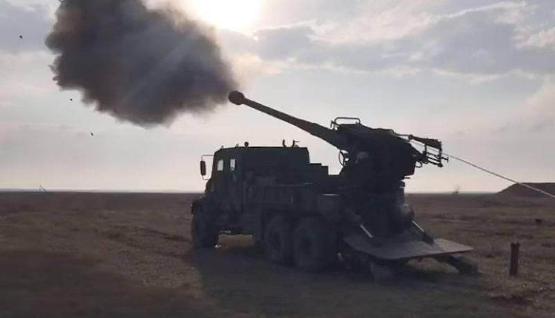 """""""Entspricht den NATO-Standards"""": 155-mm-Selbstfahrer Bogdana wurden in der Ukraine getestet"""