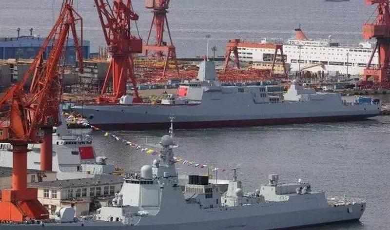 China estableció un récord mundial por lanzar destructores para la Marina del EPL