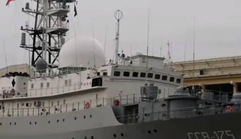 О «небезопасных маневрах» корабля ВМФ РФ «Виктор Леонов» заявили в США