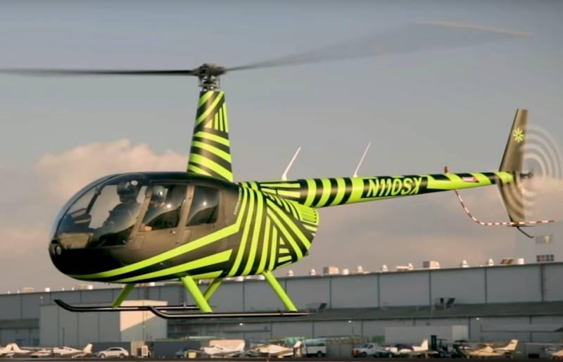 В Калифорнии продемонстрировали беспилотный вертолет на базе Robinson R-44