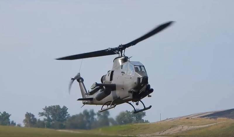 Американский вертолет «Кобра» протаранил пьяный водитель