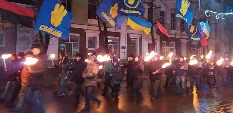 Bandera go: In Kiev, a march took place on the birthday of Bandera