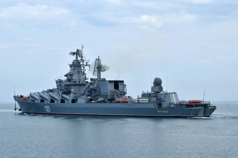 """黑海舰队巡洋舰""""莫斯科""""号的旗舰正准备重返舰队"""