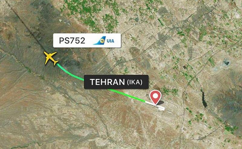 In the capital of Iran, the Ukrainian passenger liner crashed