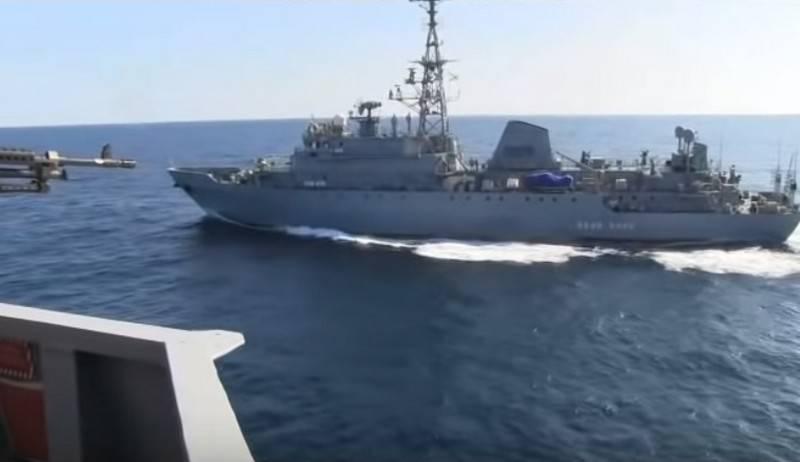 """अमेरिकी नौसेना ने रूसी खुफिया जहाज इवान हर्स पर """"खतरनाक तालमेल"""" का आरोप लगाया"""
