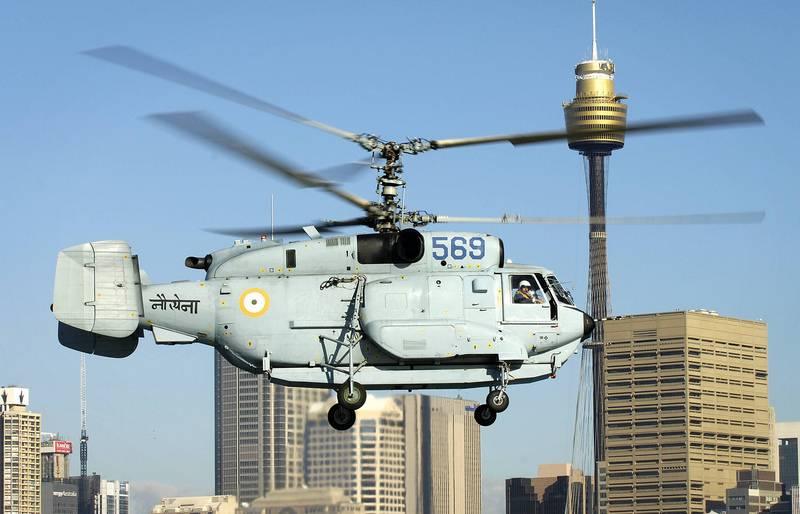ВМС Индии сокращает количество закупаемых российских вертолётов Ка-31