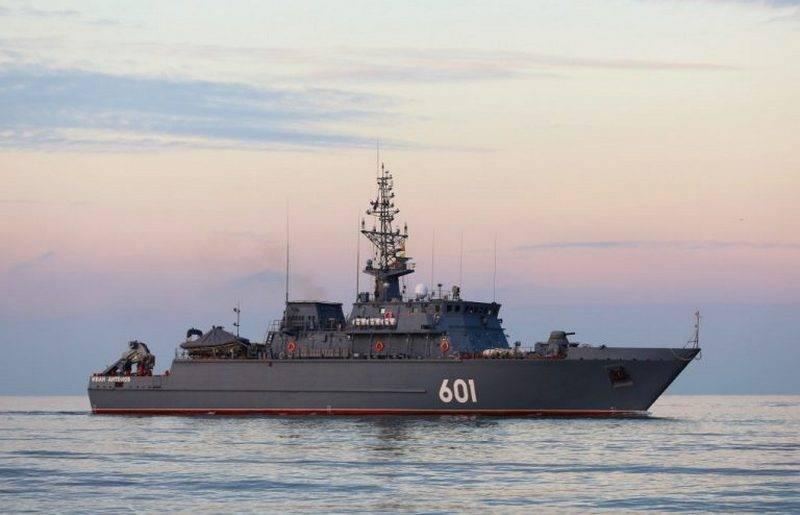 """最新的扫雷艇""""伊凡·安东诺夫""""(Ivan Antonov)首次前往地中海"""