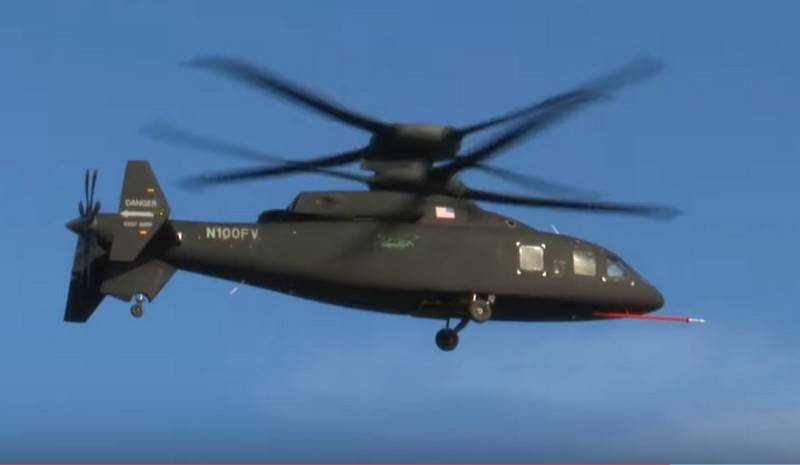 American high-speed helicopter SB1 Defiant dispersed faster than 100 knots