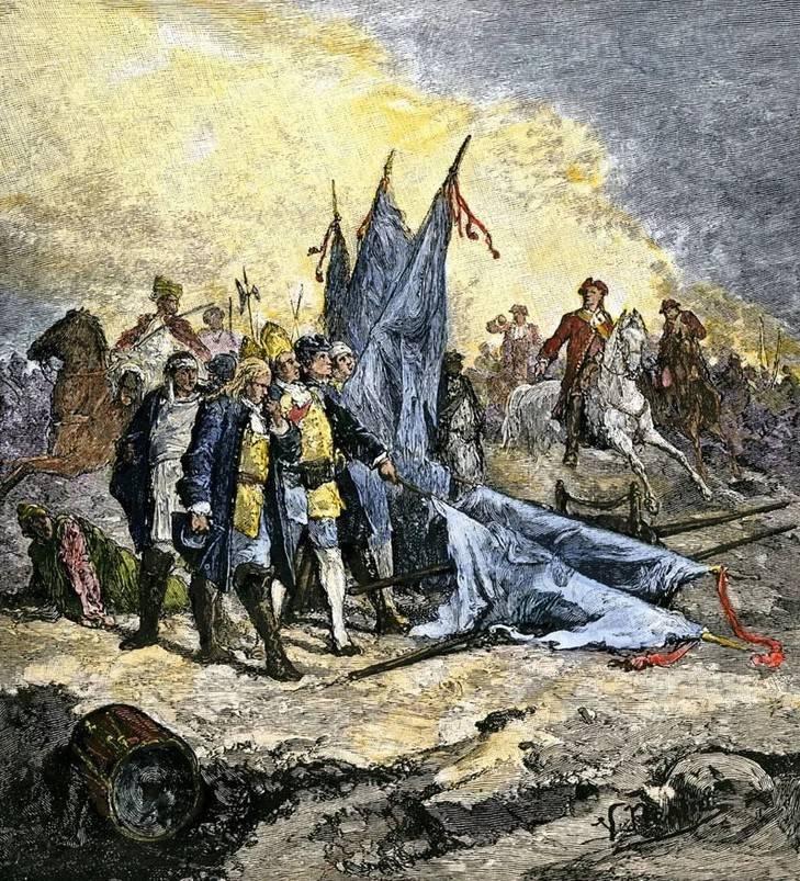 Perevolochnaya에서 스웨덴 군대의 항복