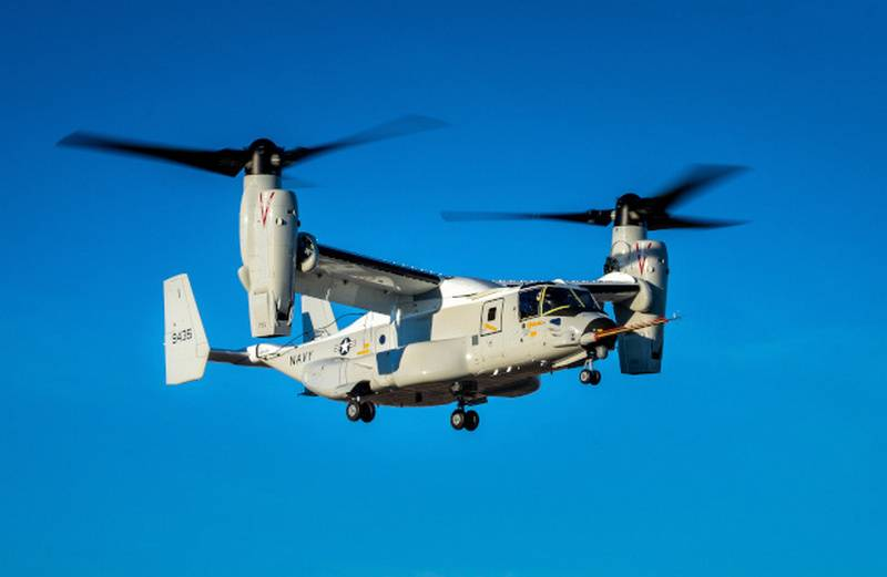 La version transport du tiltrotor CMV-22B a effectué son premier vol