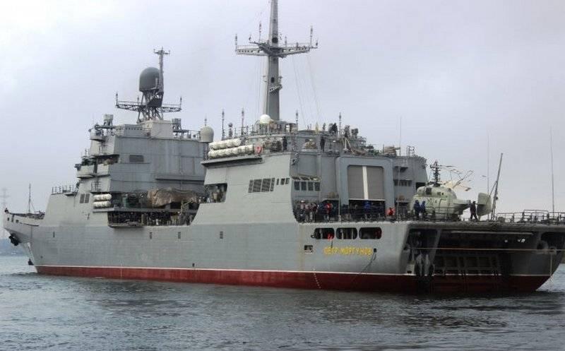 """BDK """"पीटर मॉर्गुनोव"""" परियोजना 11711 ने बाल्टिक सागर में परीक्षण जारी रखा"""