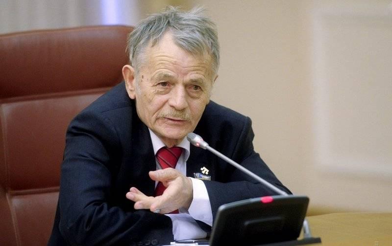 """穆斯塔法·哲米列夫(Mustafa Dzhemilev)建议将那些""""已经住过""""的人送到""""克里米亚的竞选活动"""""""