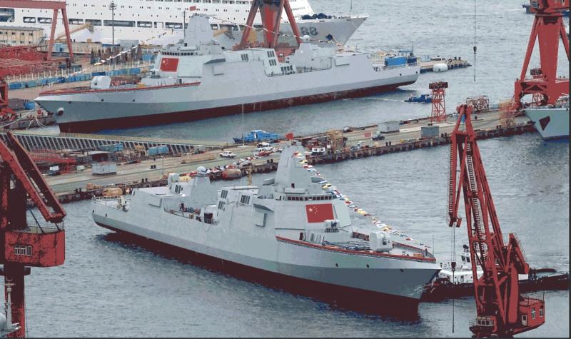 """Китайският гигант - есминецът """"НАНЧАН"""" вече е на вода и сериозно безспокои САЩ"""