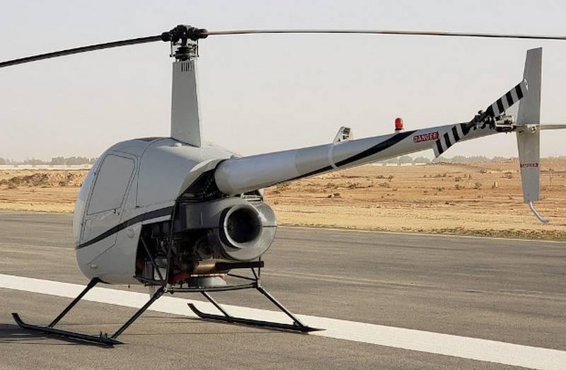在美国,研发了基于鲁滨逊R-22直升机的新型无人机