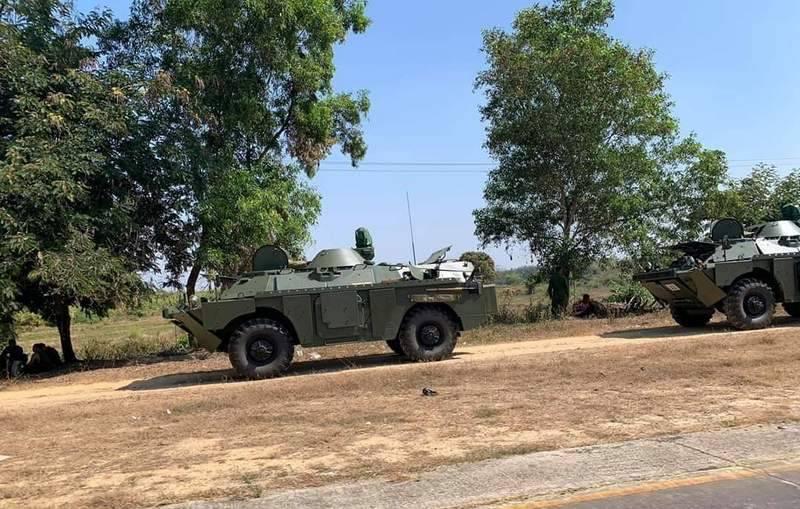 म्यांमार की सेना को आधुनिक BRDM-2MS का एक बैच प्राप्त हुआ