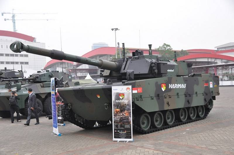 Indonesia begins assembling Harimau's first production batch of medium tanks