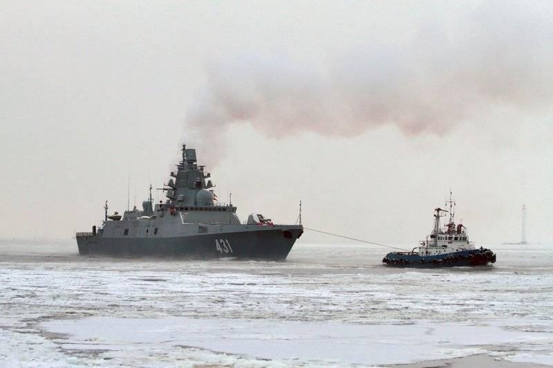 """护卫舰""""卡萨托诺夫海军上将""""测试了电子战系统"""