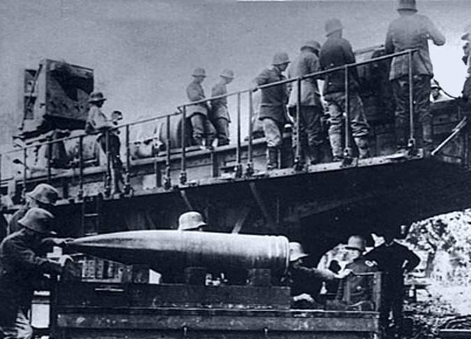 1918 में पेरिस में तोपखाने की बमबारी