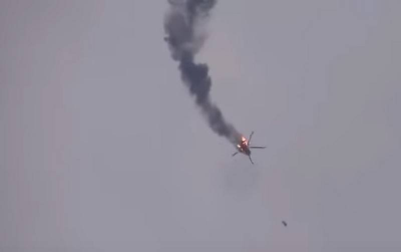 Pro-Turkish militants shot down a Syrian Air Force Mi-17 helicopter in Idlib province