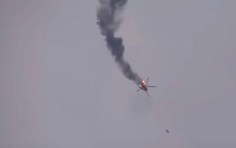तुर्की के समर्थक आतंकवादियों ने इदलिब प्रांत में एक सीरियाई वायु सेना के एमआई -17 हेलीकॉप्टर को मार गिराया