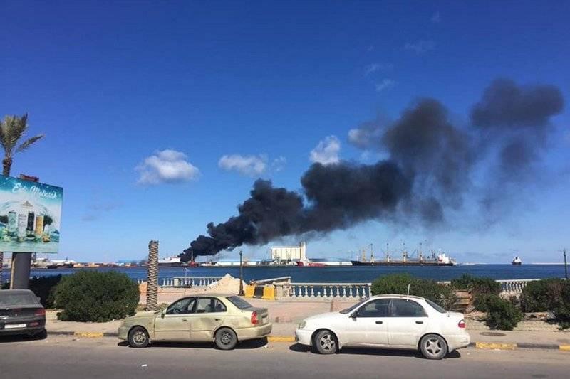 HNA Haftara ने त्रिपोली में हथियारों के साथ एक तुर्की जहाज के विनाश की घोषणा की