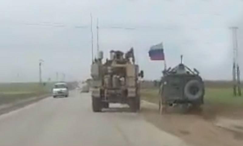 Patrulha americana bateu carro blindado russo