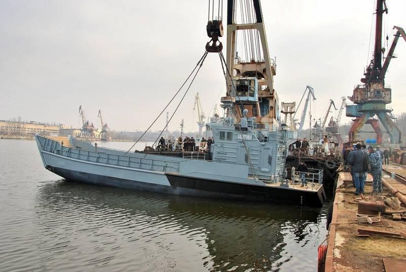 Die ukrainische Marine erhält ein repariertes Landungsboot