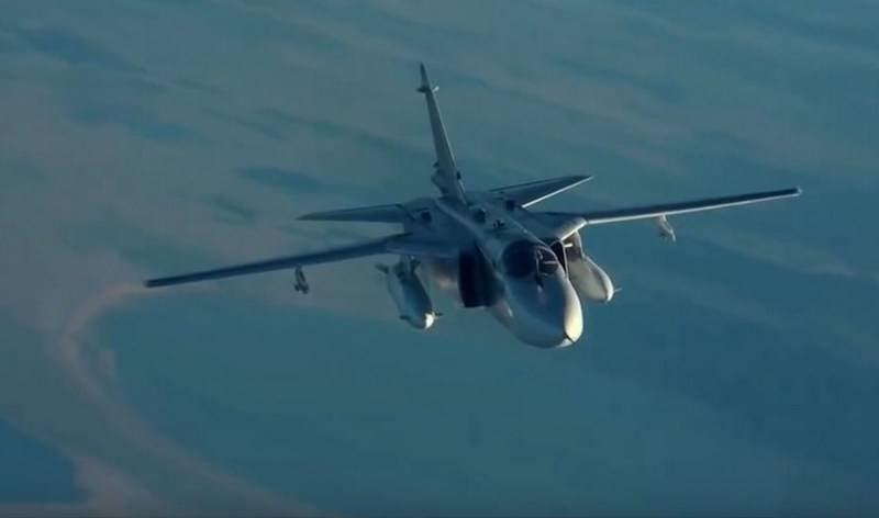 러시아 연방의 Su-24 VKS는 Idlib보다 MANPADS 미사일을 피할 수있었습니다.