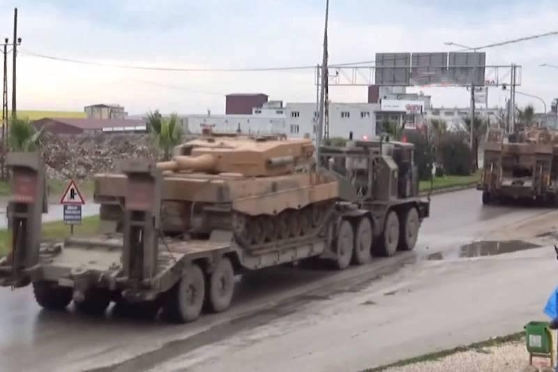 На фронт идут резервы: Турция разворачивает «Леопарды» в Сирии