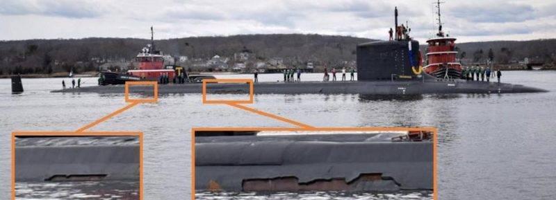 Многоцелевая АПЛ ВМС США получила значительные повреждения покрытия