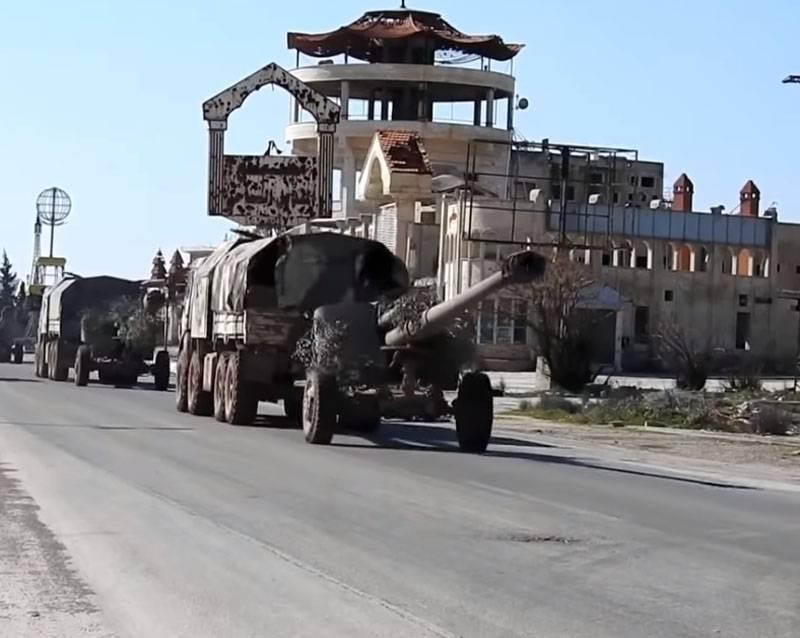 Renforts: la SAA a déployé des chars et obusiers Msta-B supplémentaires à Serakib