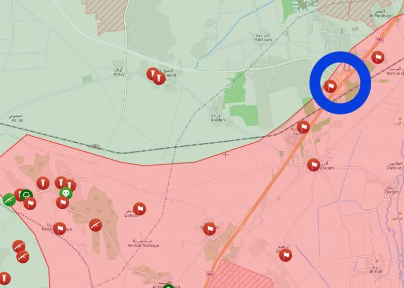 Армия Сирии нанесла поражение боевикам у ключевого пункта на дороге М5 в районе Рас-аль-Кирмида