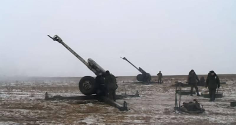 В штабе ООС заявили, что НМ ЛДНР обстреляли свои же позиции с применением 122-мм орудий