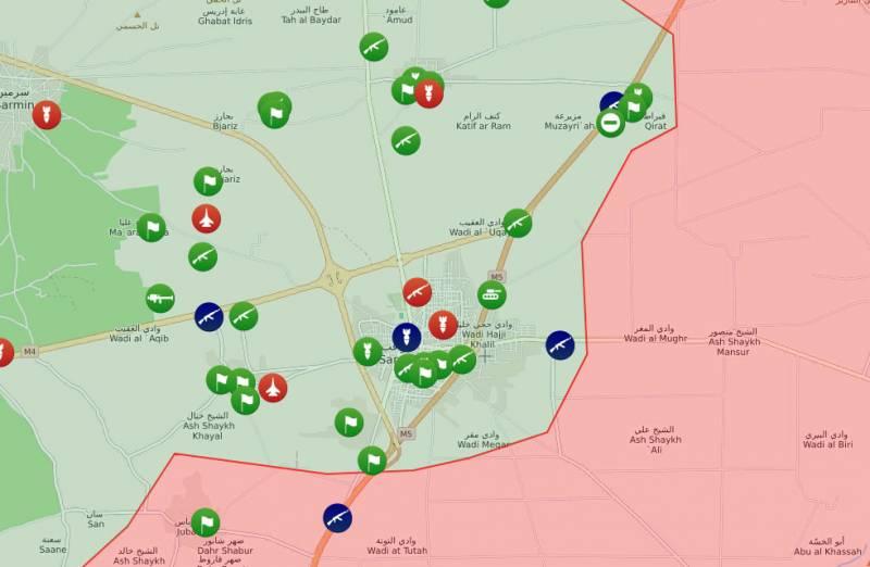 Оборона САА прорвана под Серакибом: боевики продвигаются на трёх направлениях