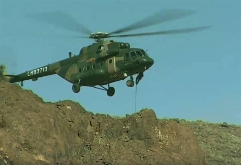 Russian landing destroyed conditional enemy in Tajikistan