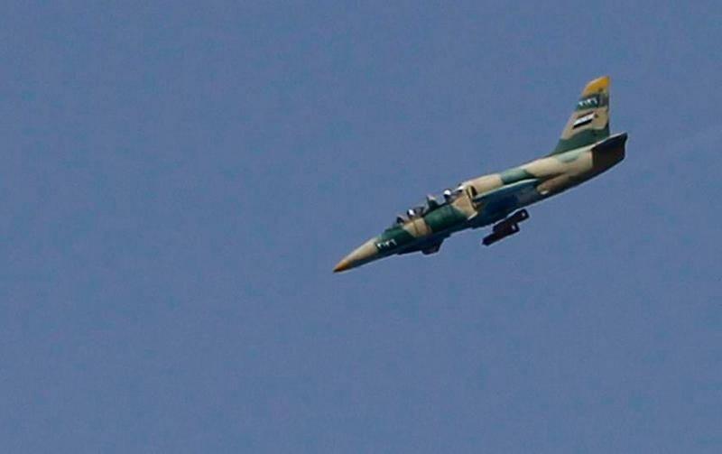 सीरियाई वायु सेना एल -39 ने इदलिब प्रांत पर तुर्क द्वारा गोली मार दी