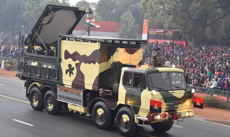 亚美尼亚武装与印度炮兵雷达Swathi