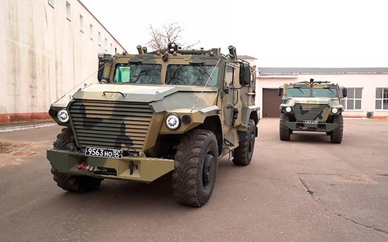 """In Russia, the development of a new armored car based on the """"Athlete"""""""